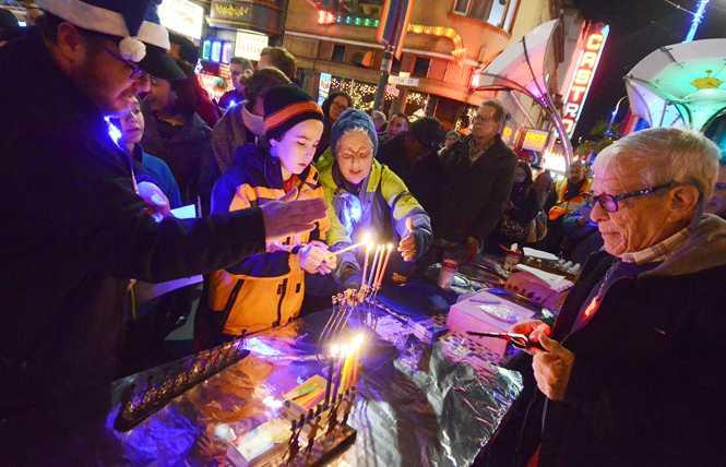 Castro Hanukkah celebration draws crowd