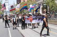 Pride is about being authentic:  Leather contingent kinks up the annual march