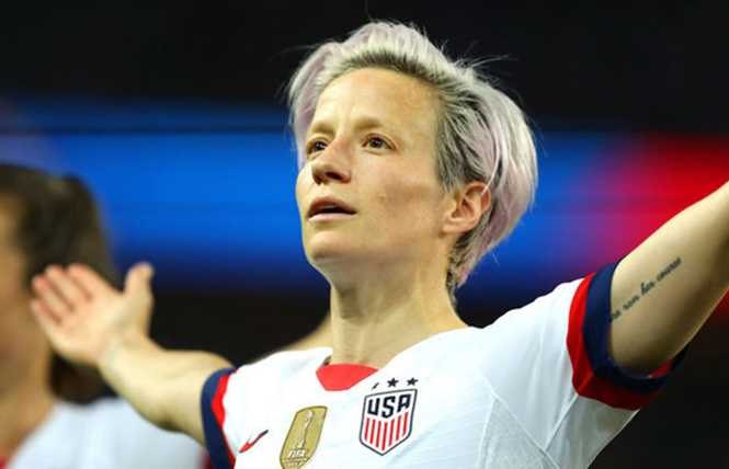 Megan Rapinoe is all over the tube