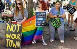 Online Extra: Modesto denies permit to 'straight pride' event