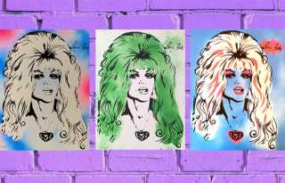 When Doris Fish Resurfaced - 'Blonde Sin' silkscreens at the 2007 Castro Street Fair