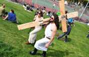 Hunky Jesus joins Easter and Passover services online