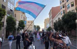 Hundreds show support for black trans rights in Tenderloin protest