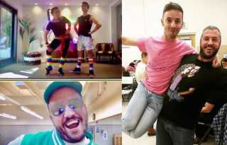 Roryography grooves: Rory Davis' retro aerobics class gets online celebrity guests