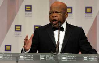 LGBTQ rights supporters remember civil rights icon John Lewis
