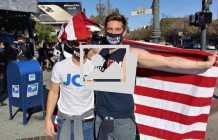 Biden/Harris victory party in the Castro