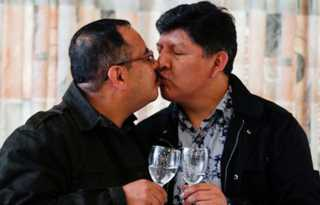Out in the World: Bolivian gay couple celebrate country's 1st civil union