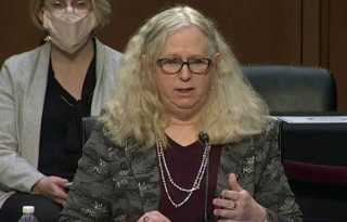 Levine fends off anti-trans questioning in historic confirmation hearing