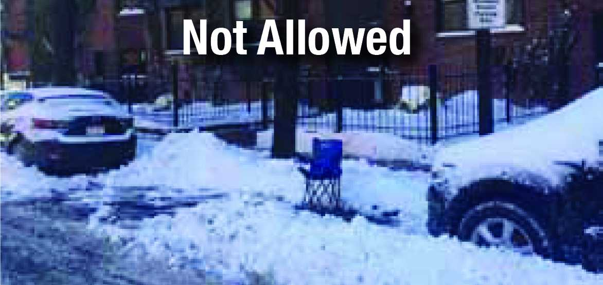 Space Savers are Not Allowed in the South End