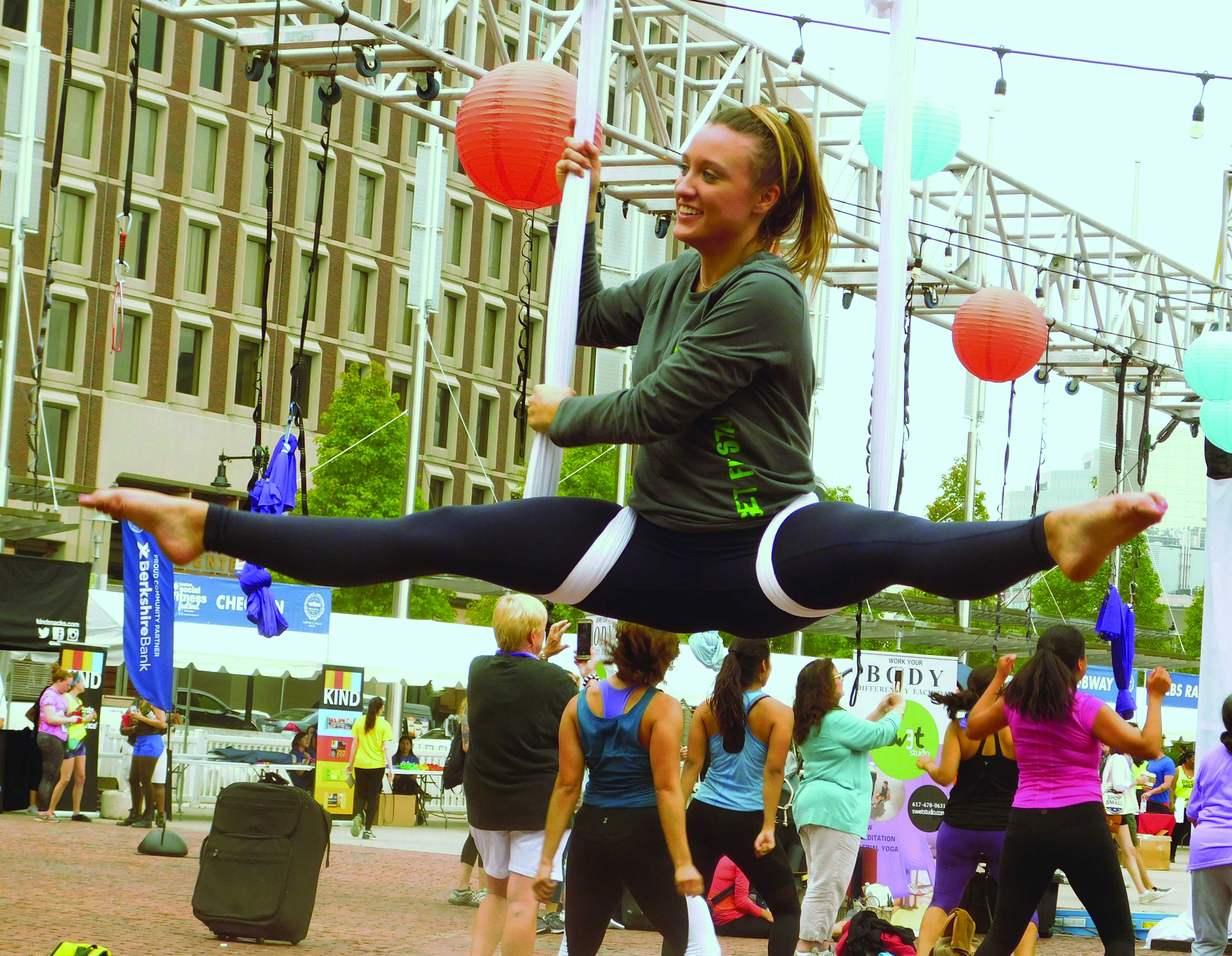 Swet Studio flies high at Boston Social Fitness Festival