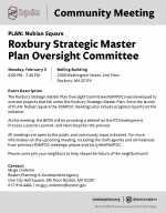 Roxbury Strategic Master Plan Oversight Committee meeting planned