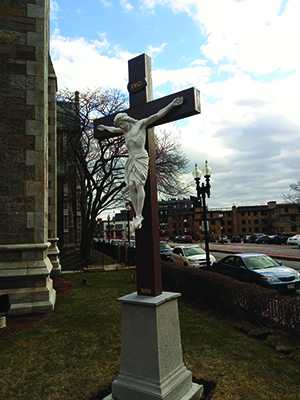 New Cross outside the Cathedral