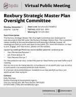 BPDA Announces Roxbury Strategic Master Plan Oversight Committee for November 1, 2021