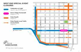 Road Closures for Pride Weekend
